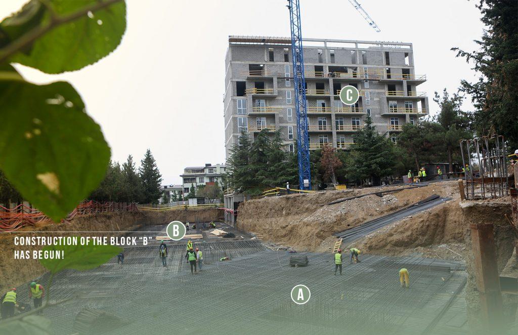 Construction of the block B has begun!