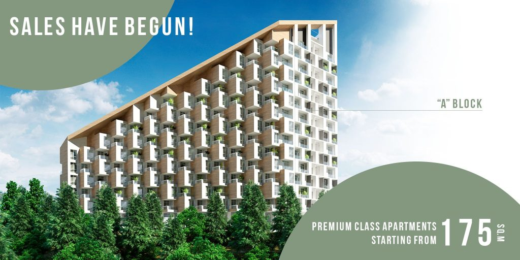 Premium class apartments in Tbilisi - Sales have begun in block A